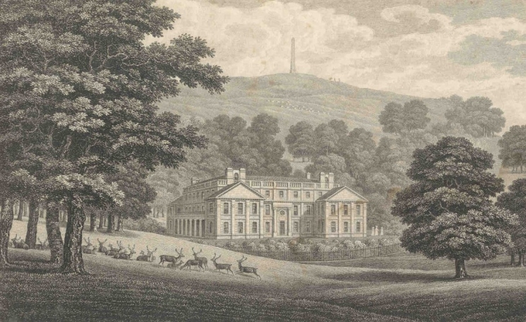 Appuldurcombe House by George Brannon, 1840