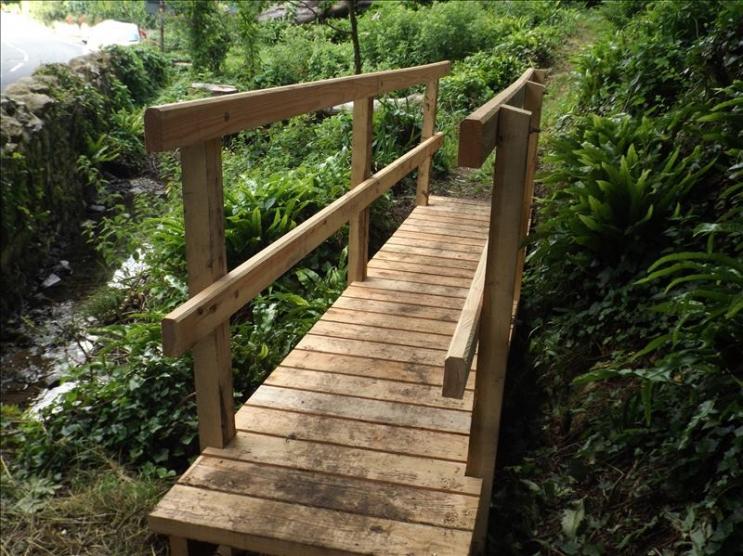 New bridge at Pelham Woods, St Lawrence